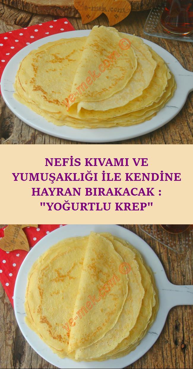 Yoğurtlu Krep Tarifi, Nasıl Yapılır